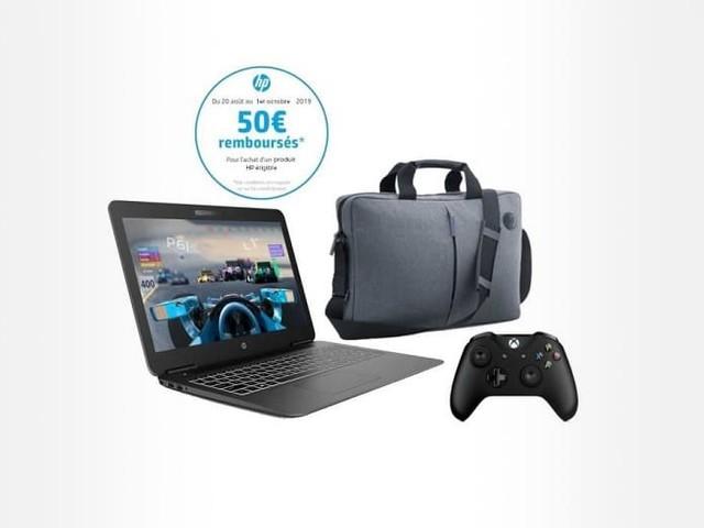 PC Portable 15,6″ HP 15-bc403nf + Manette Xbox + Sacoche à 549.99 €