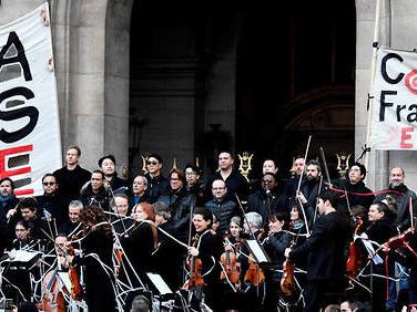 Retraites: toujours en grève,l'Opéra de Paris organise un nouveau concert
