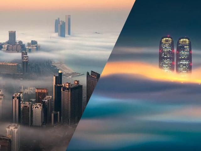 Ces gratte-ciel piégés dans les nuages offrent un spectacle merveilleux