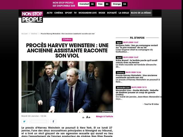 Procès Harvey Weinstein : Une ancienne assistante raconte son viol