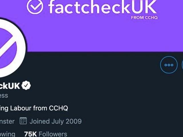 """Le parti conservateur britannique se fait passer pour un compte de """"fact-checking"""" sur Twitter"""