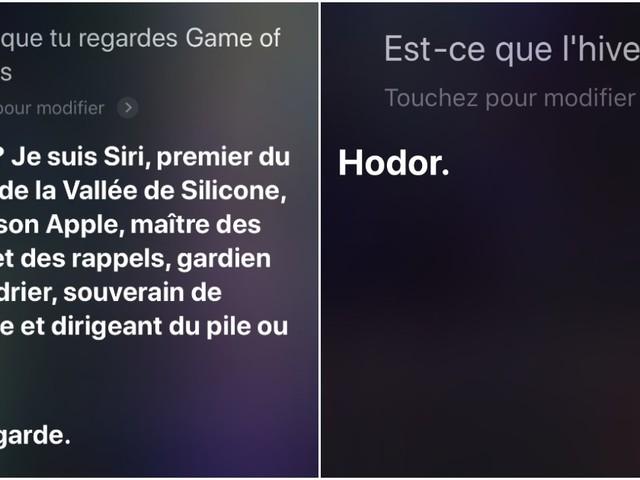 Top 10 des réponses de Siri aux questions qu'on se pose sur Game of Thrones