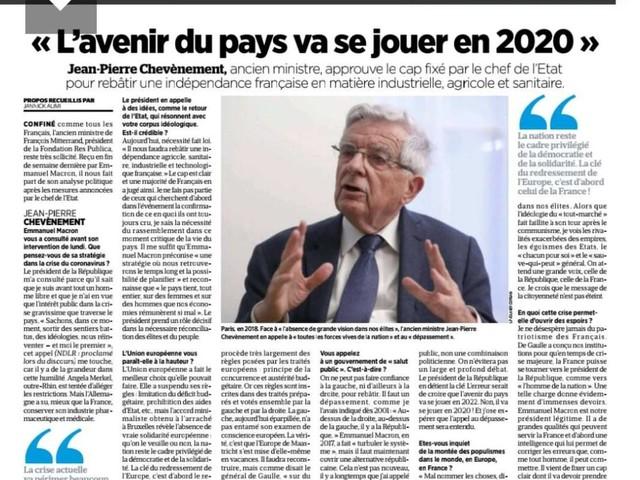 """Entretien au Parisien : """"L'avenir du pays va se jouer en 2020"""""""