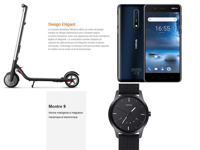Bonnes affaires : Nokia 8, Lenovo Watch 9 et trottinette Ninebot Segway ES2
