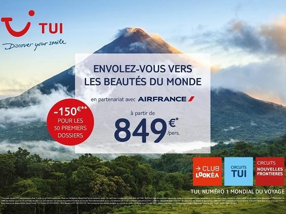 TUI s'associe avec Air France pour afficher des petits prix