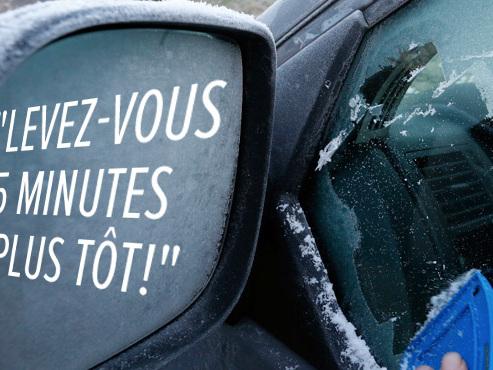 """""""Le retour des IGLOOS BORGNES"""": Christophe en colère contre les automobilistes qui ne dégivrent pas bien"""