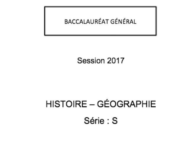 Les corrigés du bac d'histoire-géo des séries S, ES, L, ST2S et STMG