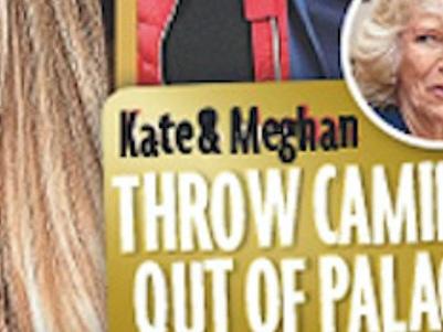 Meghan Markle et Kate Middelton «virent» Camilla Parker Bowles de Kensington Palace