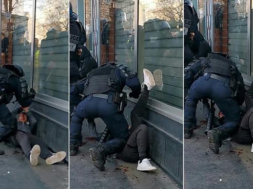 Une vidéo montre un manifestant frappé par un policier lors d'une manifestation de gilets jaunes à Paris