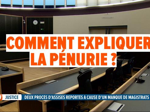 Deux procès d'assises du Hainaut reportés: il n'y a plus assez de magistrats...
