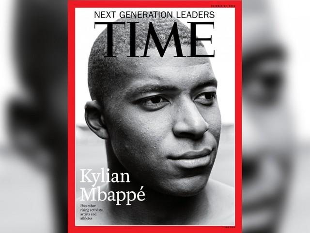Kylian Mbappé en Une de l'édition internationale de Time magazine