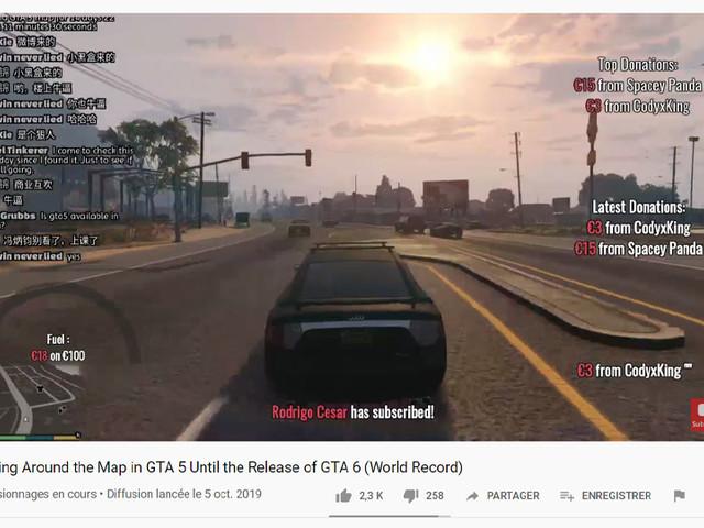 GTA 6 : un fan conduit en live 24 h/24 dans GTA 5 jusqu'à la sortie du prochain opus