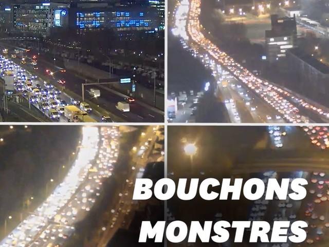 Avec la grève du 6 décembre, 7 fois plus de bouchons à Paris