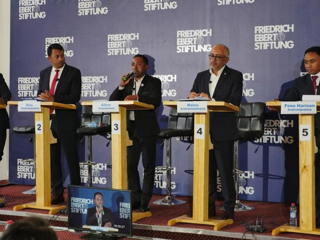 Madagascar: débat télévisé pour les cinq candidats à la mairie d'Antananarivo