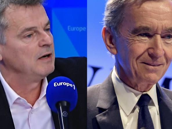 Europe 1 : ce décalage de ton ahurissant entre l'interview de Bernard Arnault et celle du patron des communistes