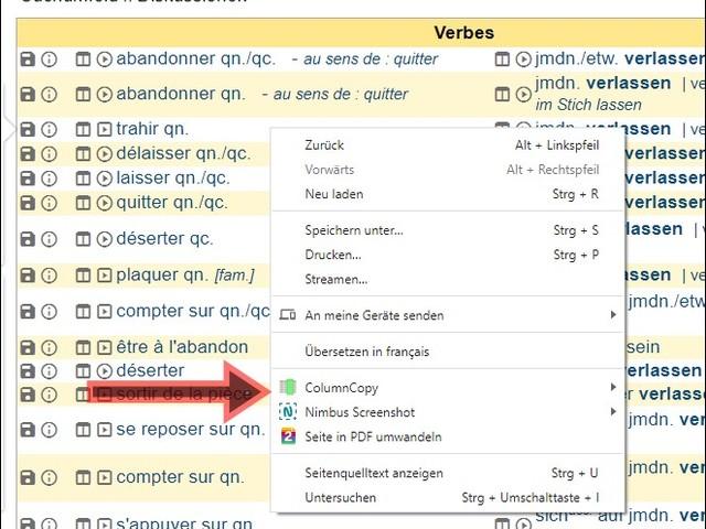 COMMENT COPIER LA COLLONE D'UN TABLEAU DISPONIBLE SUR UNE PAGE INTERNET