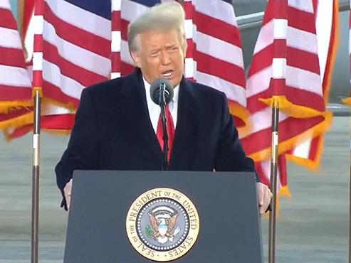 """Dernier discours de Donald Trump en tant que président des États-Unis: """"Nous reviendrons d'une manière ou d'une autre"""""""