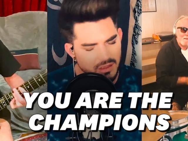 "Queen et Adam Lambert reprennent ""We are the champions"" pour les soignants"