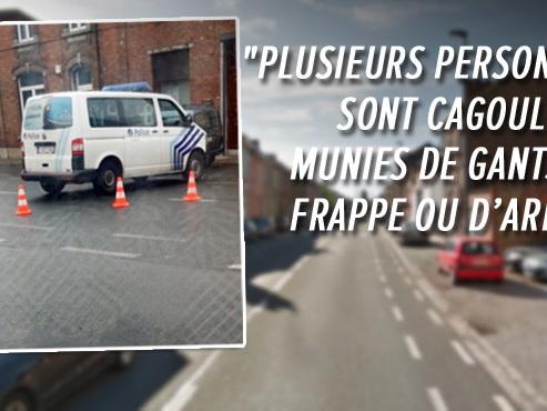 La police se déploie avec une autopompe à Charleroi: une bagarre a éclaté entre militants d'extrême droite et d'extrême gauche