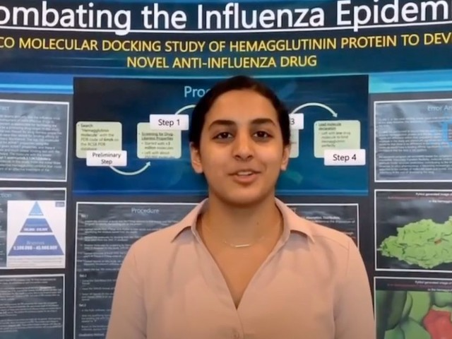 Traitement contre le Covid-19: À 14 ans, elle gagne un prix pour ses recherches