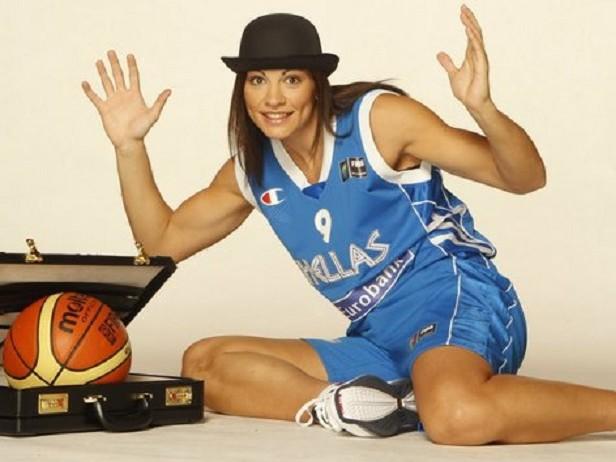 Evanthia Maltsi, meilleure joueuse de l'Euro 2009 avec 22,6 points de moyenne