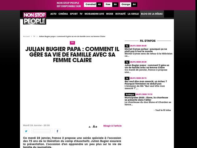 Julian Bugier papa : comment il gère sa vie de famille avec sa femme Claire