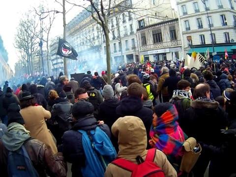Manifestation parisienne du 11 janvier, par Arkao