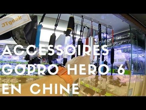 Nouveaux accessoires Gopro hero 5 et Gopro hero 6 en Chine sur le market de Shenzhen.