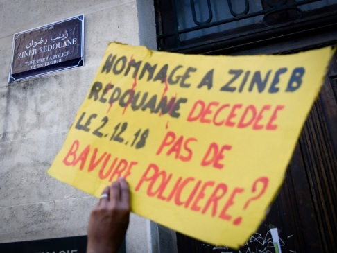 Marseille: manifestation pour le 1er anniversaire de la mort de Zineb Redouane