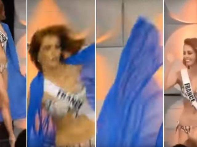 VIDEO. Miss Univers : la Nordiste Maëva Coucke chute pendant le défilé en maillot de bain