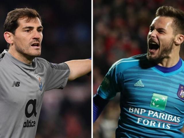 Dimata compare Didillon à Iker Casillas après son arrêt réflexe miraculeux contre l'Antwerp dans les derniers instants du match