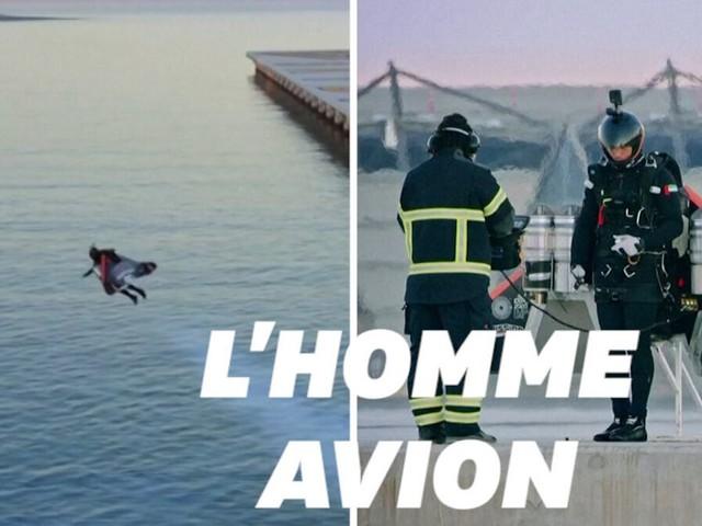 """Cet """"homme avion"""" français a volé à 1800 mètres d'altitude, une première"""