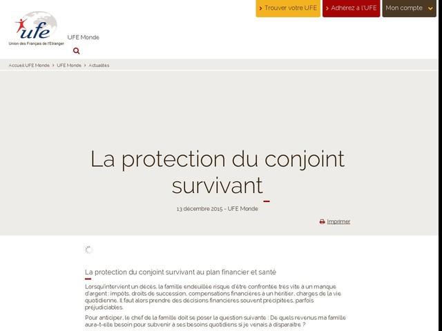 La protection du conjoint survivant