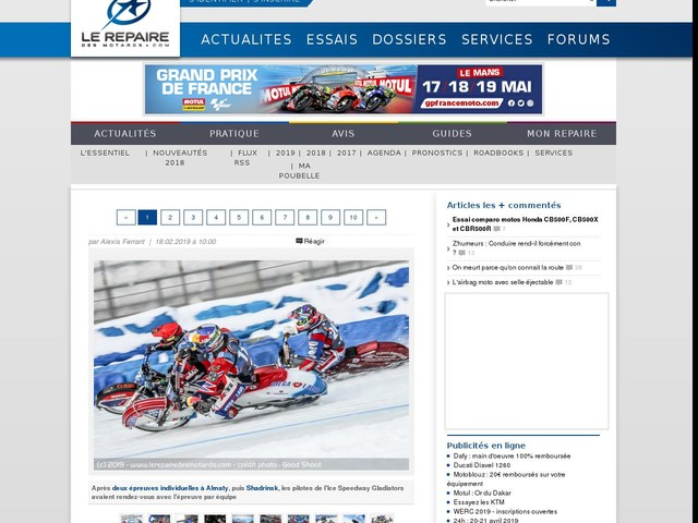 Diaporama : Ice Speedway des Nations
