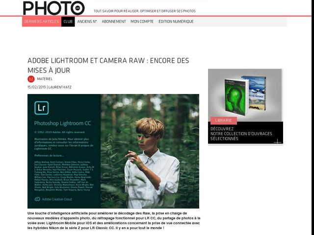 Adobe Lightroom et Camera Raw : encore des mises à jour