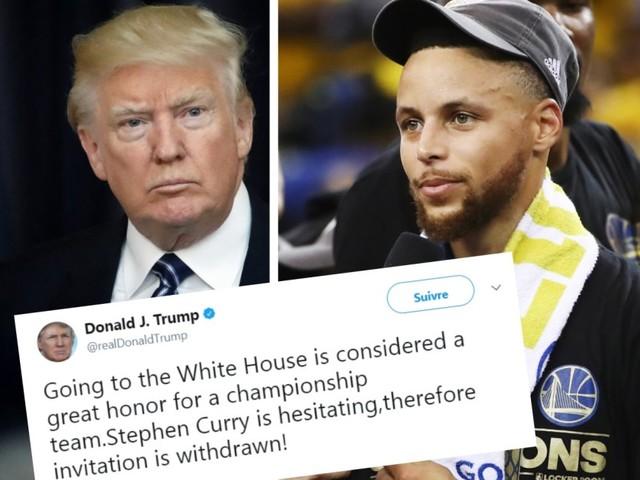 Donald Trump annule l'invitation faite aux champions de la NBA