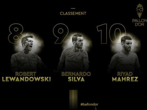 Foot - Ballon d'Or - Ballon d'Or France Football 2019 : Mahrez (10e), Silva (9e) et Lewandowski (8e) dans le top 10
