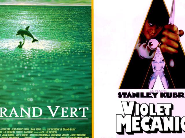 Top 17 des grands classiques du cinéma vus par un daltonien