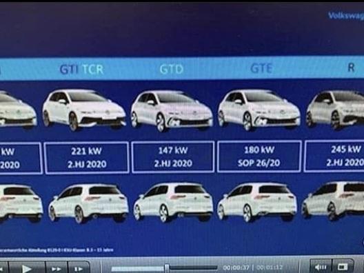 Volkswagen Golf 8 : GTD, GTI, R, les moteurs des différentes versions révélés ?