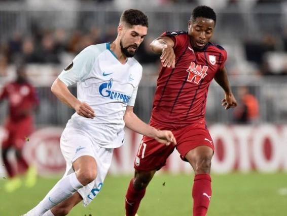 Ligue Europa (Groupe C) : Bordeaux concède le nul contre le Zenit et dit presque adieu à la qualification