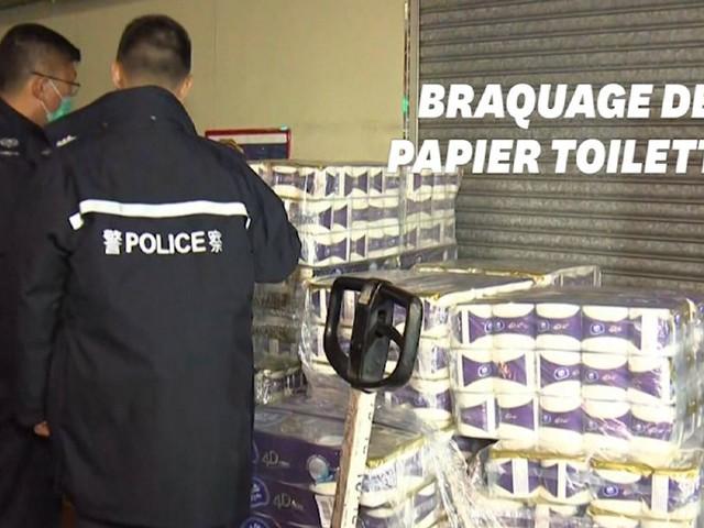 Coronavirus: un braquage pour du papier toilette à Hong Kong