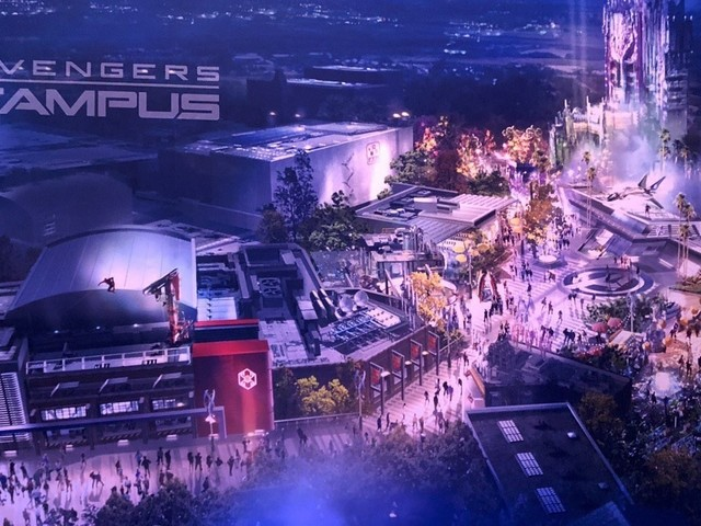 Disneyland : le campus des Avengers révélé à la D23, les premières images