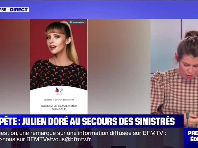 Tempête : Julien Doré au secours des sinistrés - 19/11