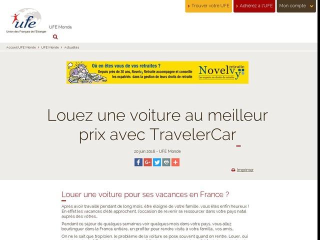 Louez une voiture au meilleur prix avec TravelerCar