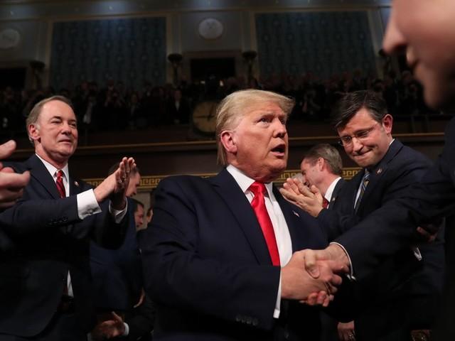 """Trump n'a pas prononcé """"destitution"""" de tout son discours sur l'état de l'Union"""