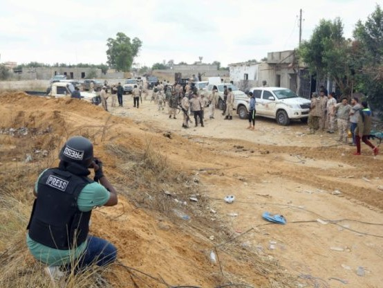 Journaliste en Libye, métier à risques, même loin du front
