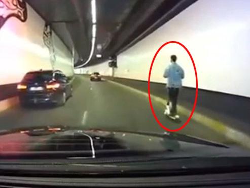 Un homme a emprunté le tunnel de la Porte de Hal en trottinette électrique: que risque-t-il ? (vidéo)