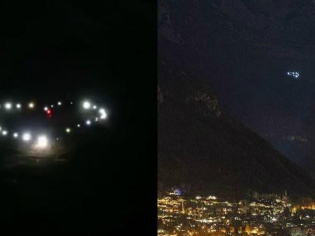 """Ils défient le confinement et dessinent un cœur dans les Alpes pour leurs """"libertés volées"""""""