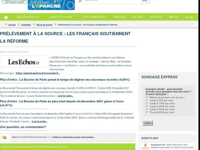 Prélèvement à la source : les Français soutiennent la réforme