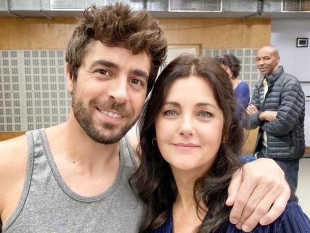 """PHOTO. Agustin Galiana """"ravi d'accueillir"""" Cristiana Reali dans la nouvelle saison de Clem"""